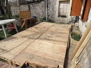 Terrasse Avec Palette : terrasse en palette photo de le bricolage notre petite vie ~ Melissatoandfro.com Idées de Décoration