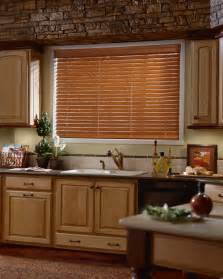 Kitchen Curtain Ideas With Blinds by Horizontal Wood Blinds In Kitchen Venetian Blinds
