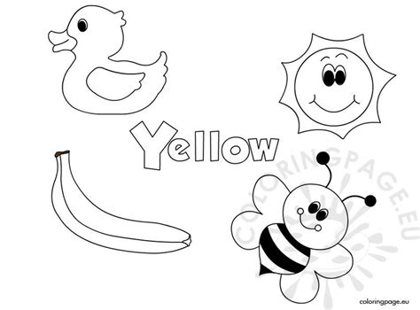 color yellow coloring page