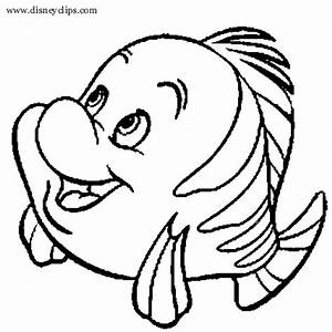 Flounder From Little Mermaid Coloring Pages Coloring Pages