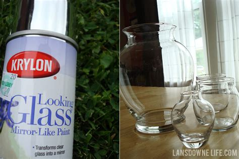 Making Faux Mercury Glass With