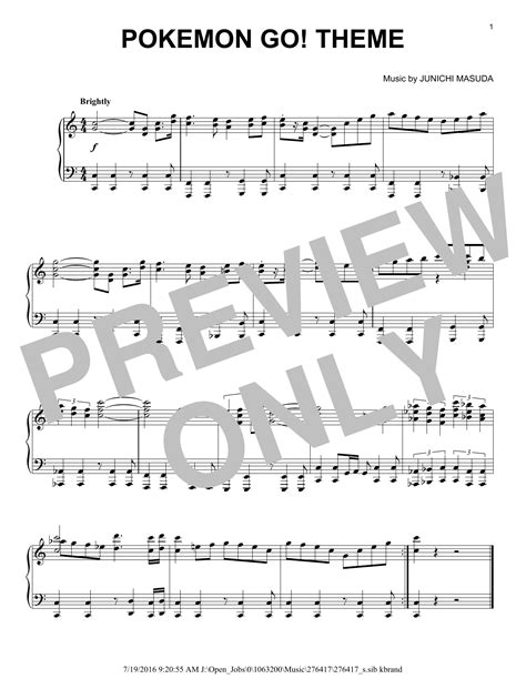 pokemon go theme sheet music direct