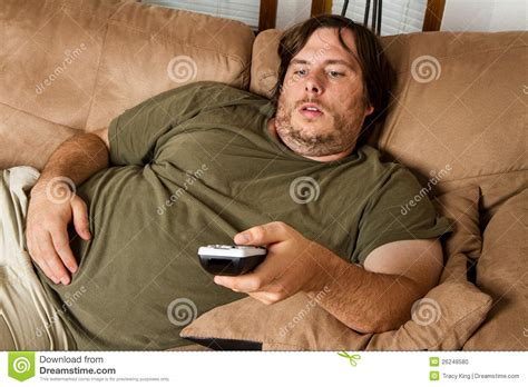 Fat Lazy Guy Couch Stock Photos  Royalty Free Pictures