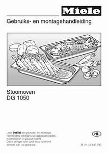 Miele Dg 1050 Oven Download Manual For Free Now