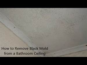 How to remove black mold from a bathroom ceiling youtube for How to remove mold from bathroom ceiling