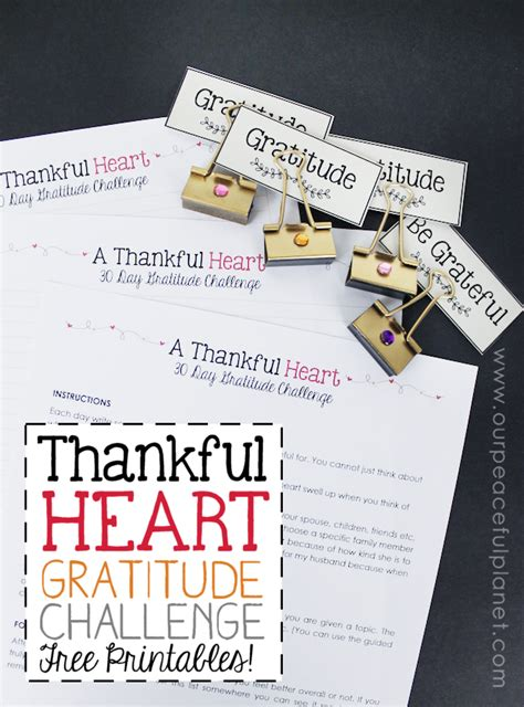 thankful heart simple  day gratitude challenge