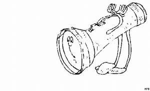 Taschenlampe Mit Beinen Ausmalbild Malvorlage Comics