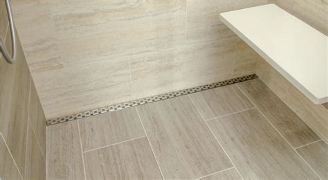 linear drain shower you can install the homy design