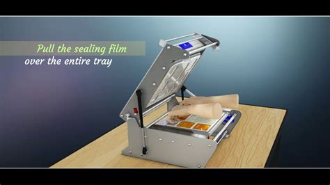 topsealer top sealer demo meal tray sealing machine  sealing machine youtube