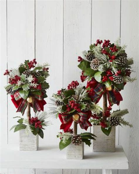 kleine gestecke weihnachten 1001 ideen neue weihnachtsgestecke selber machen