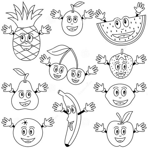 fruits coloring pages  preschoolers strawberry