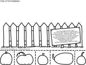 Five Little Pumpkins Sitting On A Fence by Give Your Octopus A Paintbrush Or 8 Printable Five