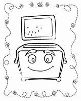Toaster Template Coloring Sketch sketch template