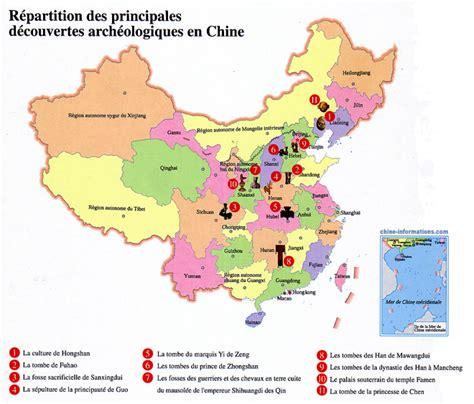 cuisine antique carte des découvertes archéologiques en chine chine