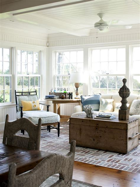 Cape Style Home Decorated Classic Color And Pattern by 13 Coastal Cool Living Rooms Hgtv S Decorating Design