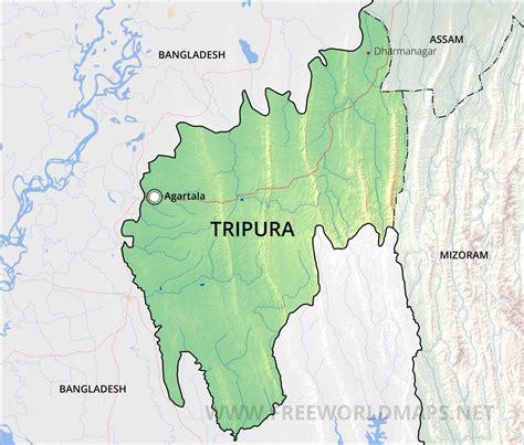 tripura maps