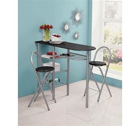 Kitchen Furniture Argos by Buy Home Amelia Breakfast Bar 2 Chairs Black Space