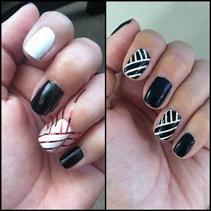 Striping tape nail design | nail art | Pinterest | Tape ...