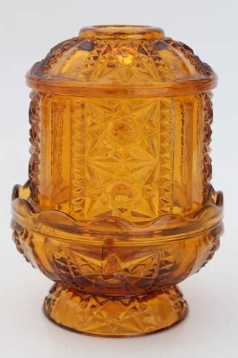 amber coloured fairy lights vintage amber glass candle l fairy light candle holder