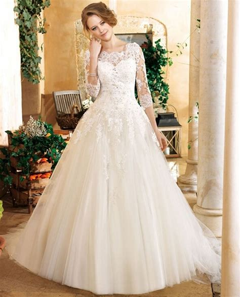Elegant White Beaded Sequin Tulle Vintage Lace Princess