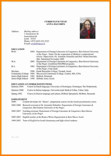 Student Cv by 5 Curriculum Vitae Student Theorynpractice