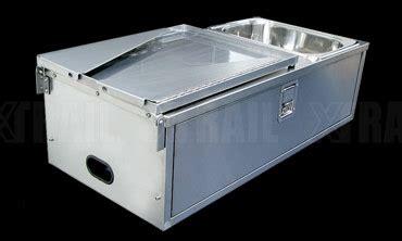 xtrail stainless steel camper trailer tailgate kitchen