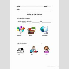 Going To The Library Worksheet  Free Esl Printable Worksheets Made By Teachers