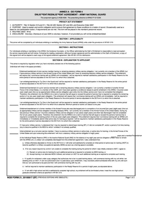 annex  dd form  enlistment army printable
