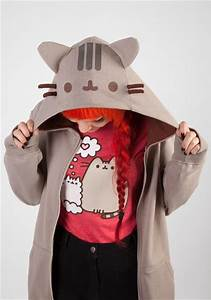 pusheen the cat costume zip hoodie newbury comics