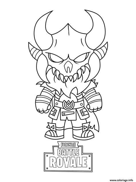 coloriage fortnite mini cute  dark viking dessin fortnite  imprimer