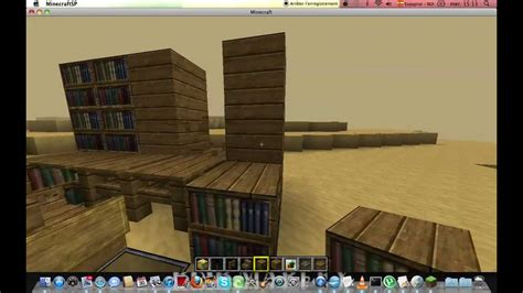 comment faire un bureau minecraftconstruction tuto comment faire un bureau et un ordinateur