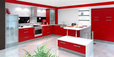 cuisines rouges cuisine moderne imgkid com the image kid has it