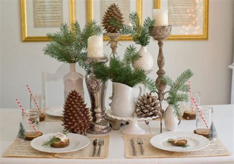 Festive Christmas Table Decoration Ideas And Tutorials 2017 Quirky Living Room Furniture Pop Designs Electric Fireplace Mexican Dining Chairs Teal Wallpaper Designer Pictures Of Rooms Chocolate Walls