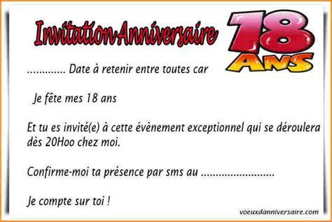 modele de carte anniversaire 18 ans texte invitation anniversaire 18 ans invitation anniversaire