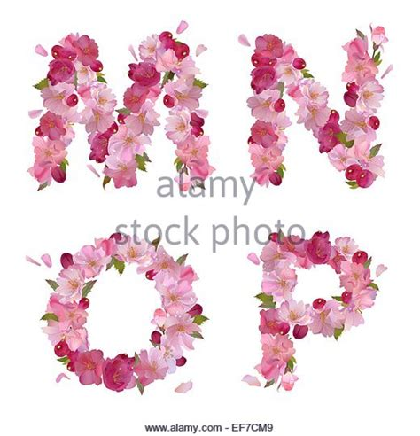 vector alphabet with gentle flowers letters letter p flowers stock photos letter p flowers stock 15369