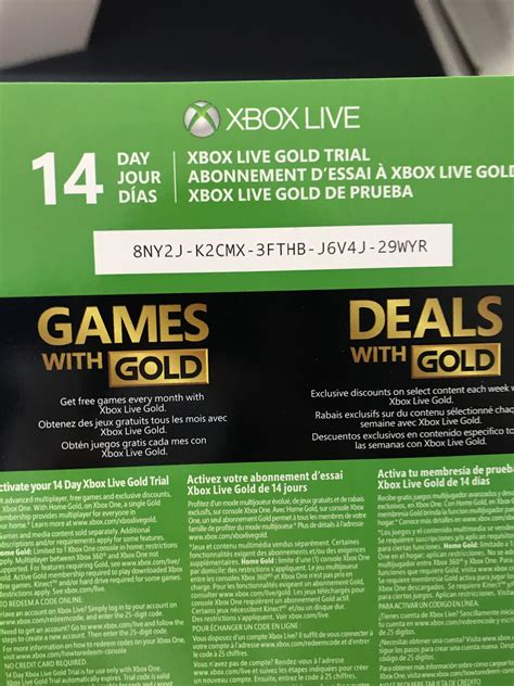 mm xbox live code giveaway 14 day gold trial xboxone