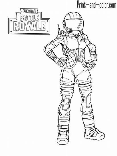 Fortnite Coloring Pages Dark Battle Royale