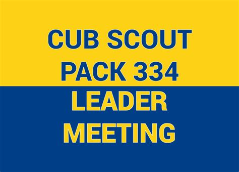 cub scout leader meeting scouting
