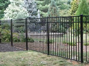 54 quot h x 70 quot w asbury 3 rail aluminum fence panel at menards our new fence garden