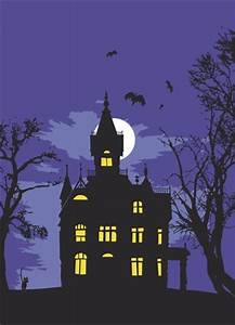 Haunted House silhouette | Fall/Halloween | Pinterest