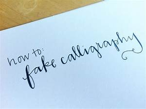 How to create fake calligraphy jones design company picmia for Fake calligraphy wedding invitations