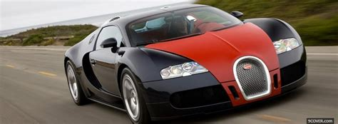 Red And Black Bugatti Veyron Photo Facebook Cover