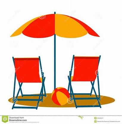 Umbrella Beach Clipart Chairs Deck Chair Umbrellas