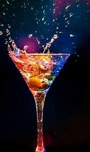 #Food/Drink #drink #glow #blackbackground #wallpapers hd ...