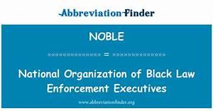 定義 NOBLE: National Organization of Black Law Enforcement ...