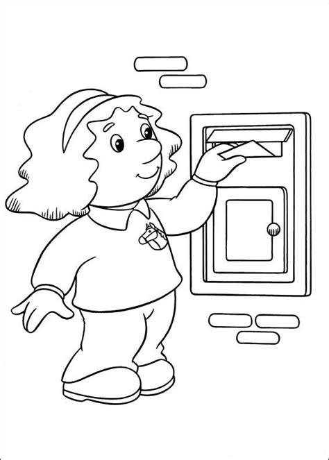 coloring page postman pat coloring pages