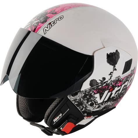 ladies motorcycle helmet nitro ngjp romance ladies open face demi motorcycle womens