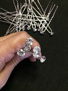 Set Of 24 Crystal Hair Bobby Pin Diamond Bobby Pin Wedding