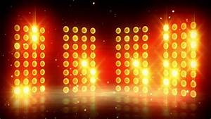Yellow Stage Lights Loopable Background Stock Footage ...