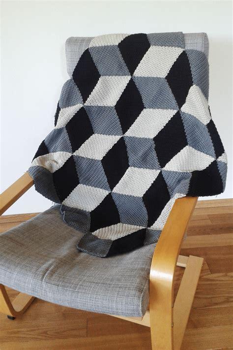 geometrische haekeldecke mit  effekt handmade kultur